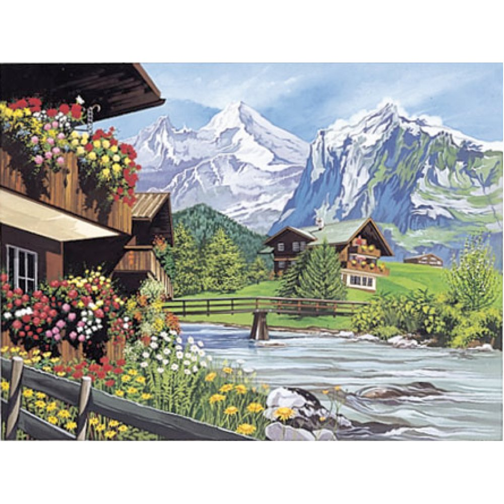 Amazon.com: Reeves Paint by Numbers Paint Set - Mountain Chalet ...
