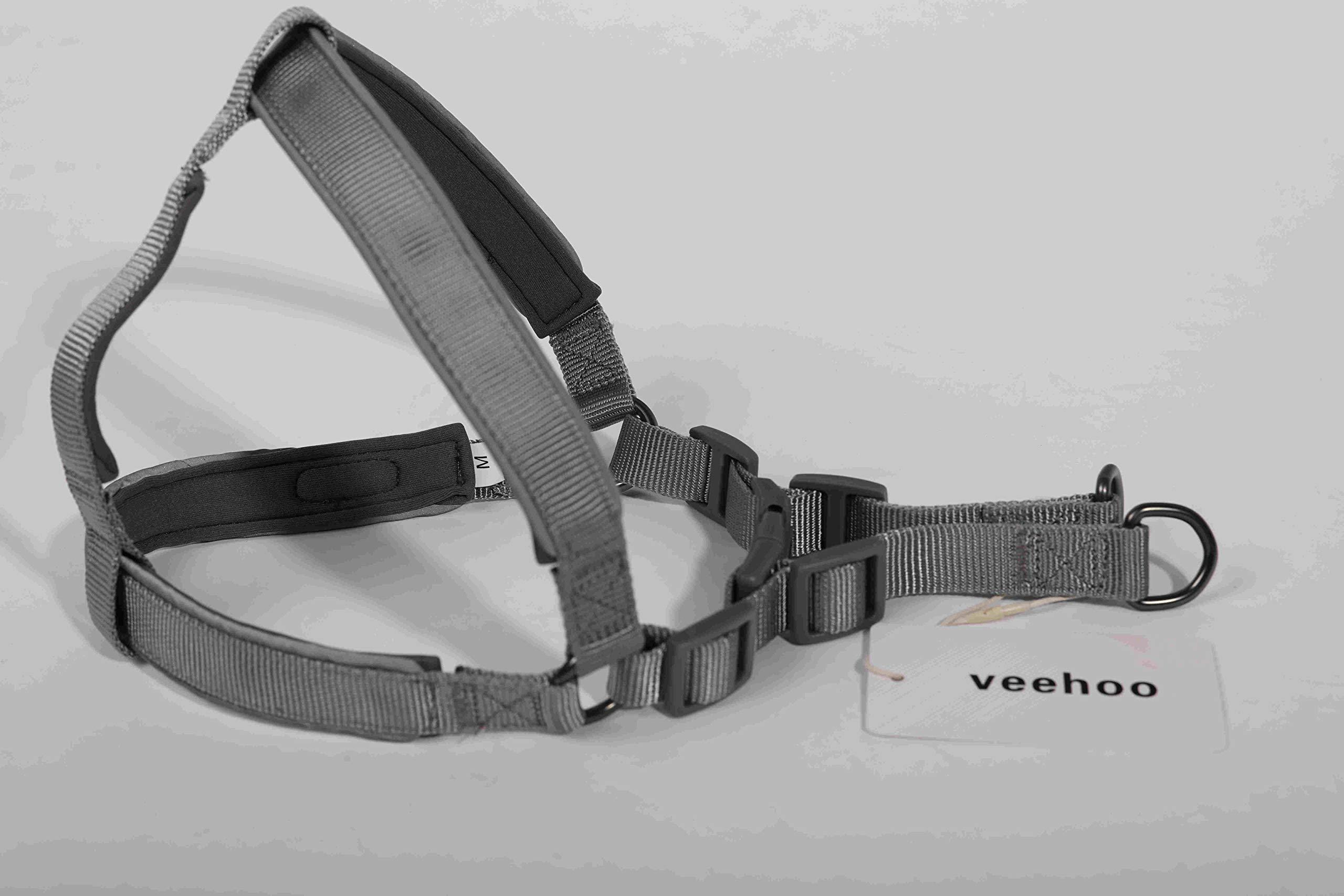 Veehoo Dog Safety Vest Harness, Pet Dog Adjustable Car Safety Mesh Harness Travel Strap Vest with Car Seat Belt