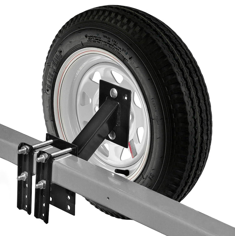 Roue de secours de transport pour bateau et remorque utilitaire support de roue de secours Compatible avec 4 ou 5 Lug Wheel No-Drill Bracket KapscoMoto