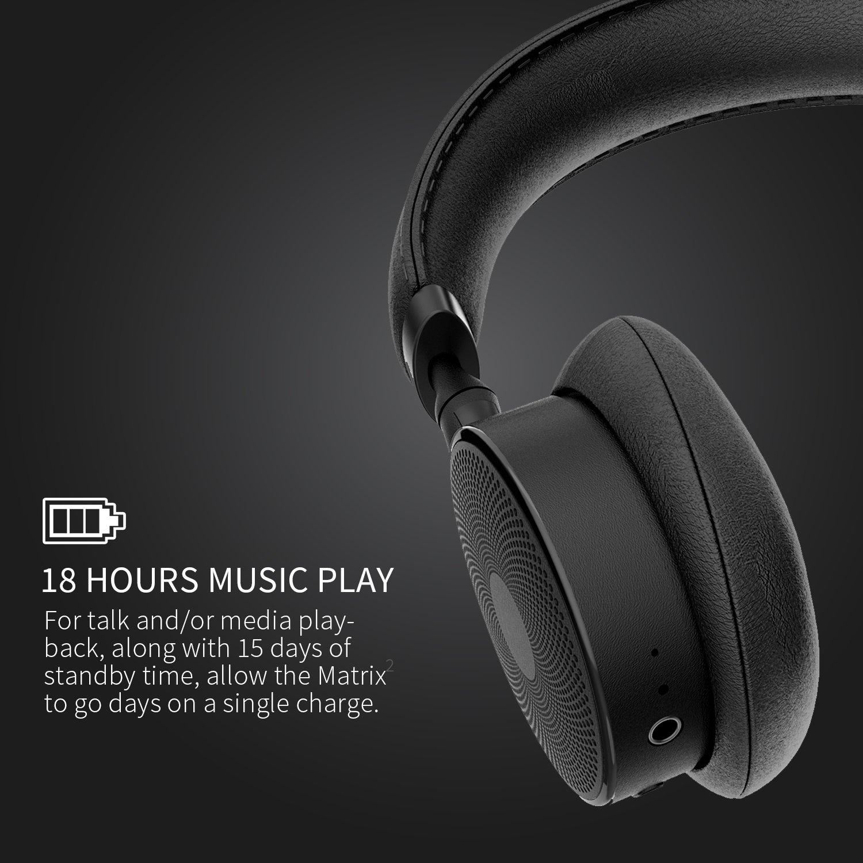 jayfi Touch H1 inalámbrico auriculares de diadema con aptX ligero calidad HD Bluetooth 4.1 NFC Auriculares graves profundos Swipe Control con micrófono: ...