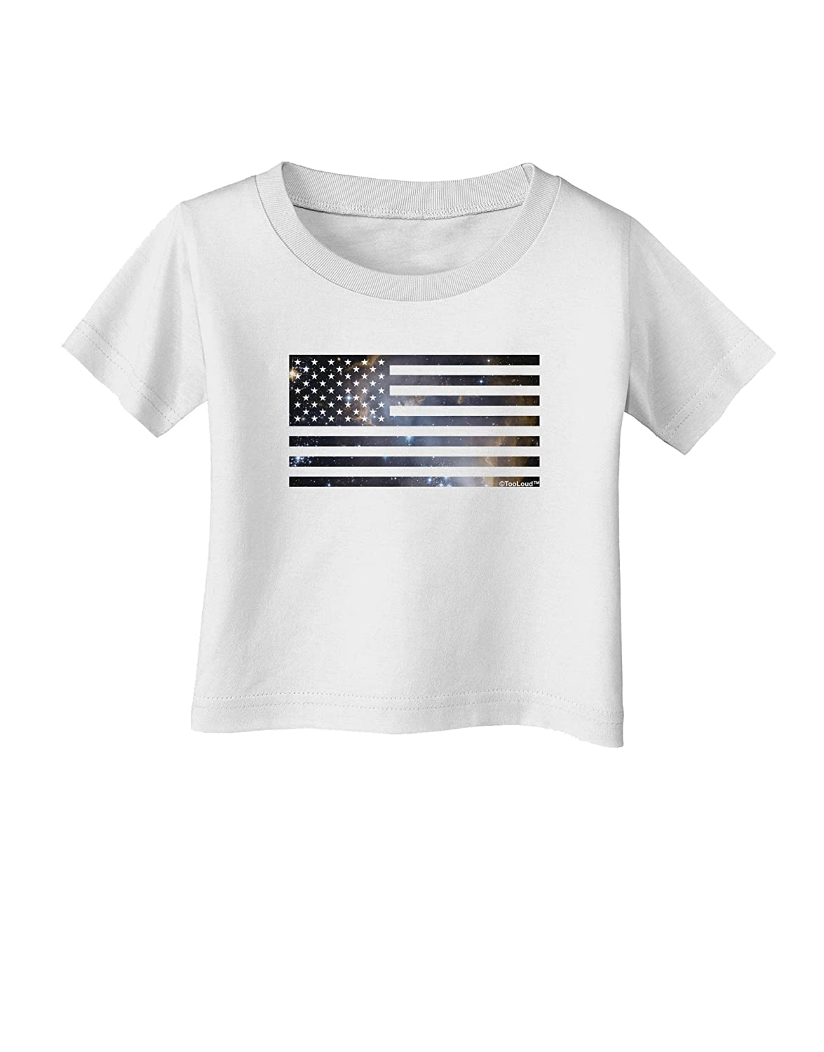 TooLoud American Flag Galaxy Infant T-Shirt