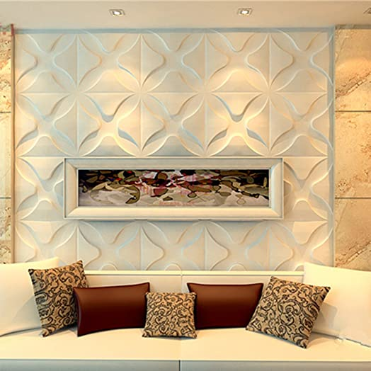 Yazi 3D Effect Wall Boards Panel Refurbished Relief Wallpaper For Living Room Store TV Background