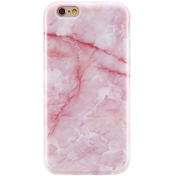 newest baa7e dc91a VIVIBIN iPhone 6 Plus Case for Girls,iPhone 6s Plus Case for Women,Cute  Pink Marble Clear Bumper Best Protective Soft Silicone Rubber Matte TPU  Cover ...