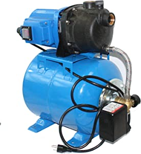 Water Pump Outdoor Electric Well Garden Shallow With Booster System 1000GPH 110v 1.6 HP With Tank - Skroutz