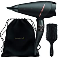 REMINGTON D0720AU Supercare Pro Hair Dryer Gift Set Superior Ionic Conditioning and Fast Drying Performance, Black, 1…