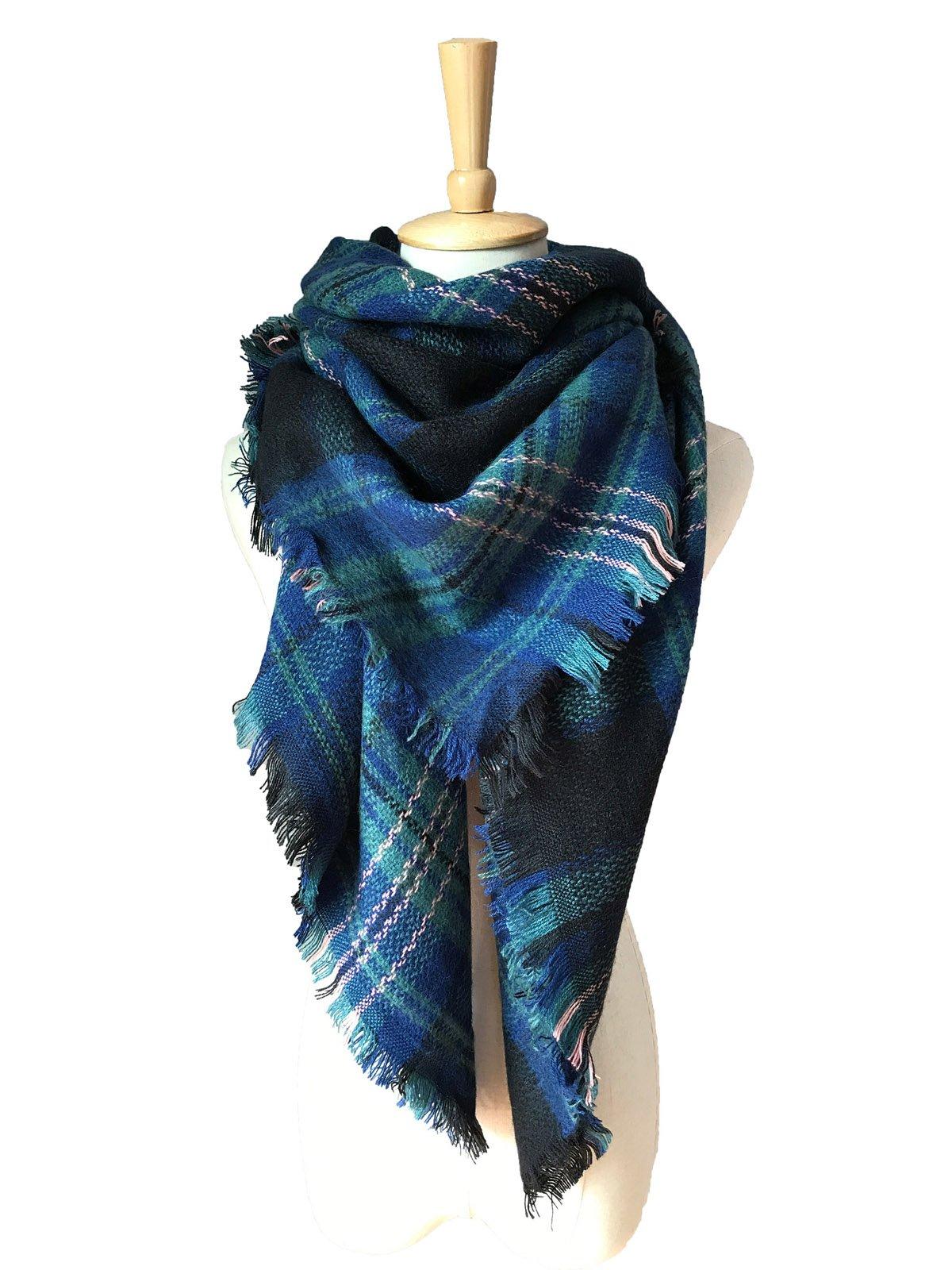 Lanzom Large Tartan Fashion Women Warm Blanket Scarf Lovely Wrap Shawl (Color 21)