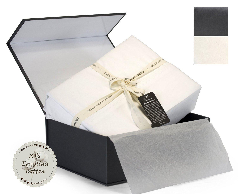 100% Egyptian Cotton - Luxury - 1000 Thread Count - Deep Pocket - Sateen - Sheet Set (Queen, White)