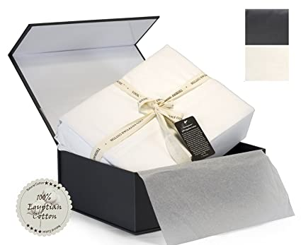 100 Egyptian Cotton Sheets Genuine 1000 Thread Count 4 Piece Gift Box Set