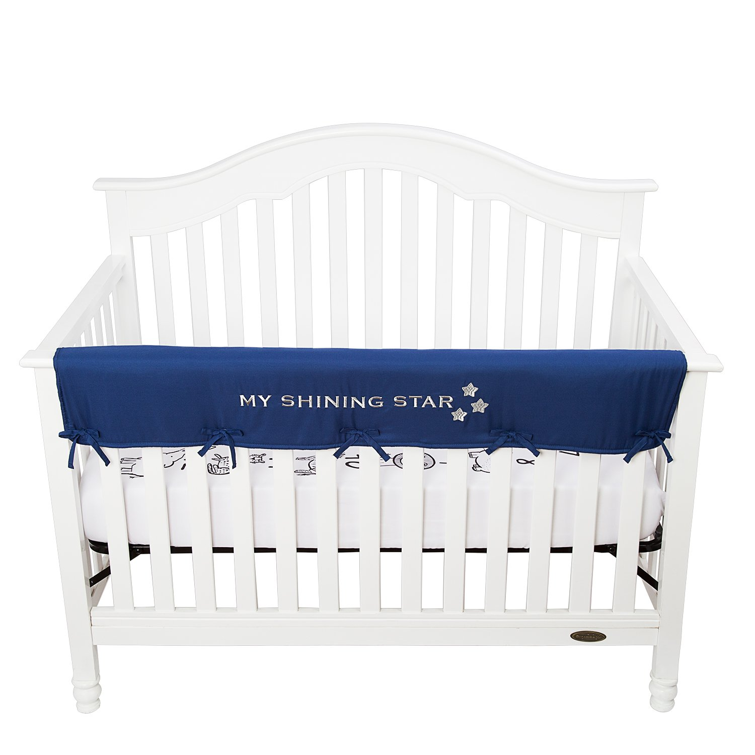 Tillyou Personalized Padded Baby Crib Rail Cover Protector