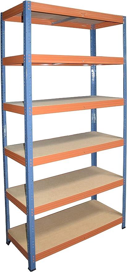 shelfplaza® PROFI Steckregal 230x90x50cm Akten Büro Garage Lager Werkstatt
