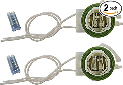 2 Wire Harness for 4157 3157 Bulbs Tail Socket Replacement for GM LS94 SUV