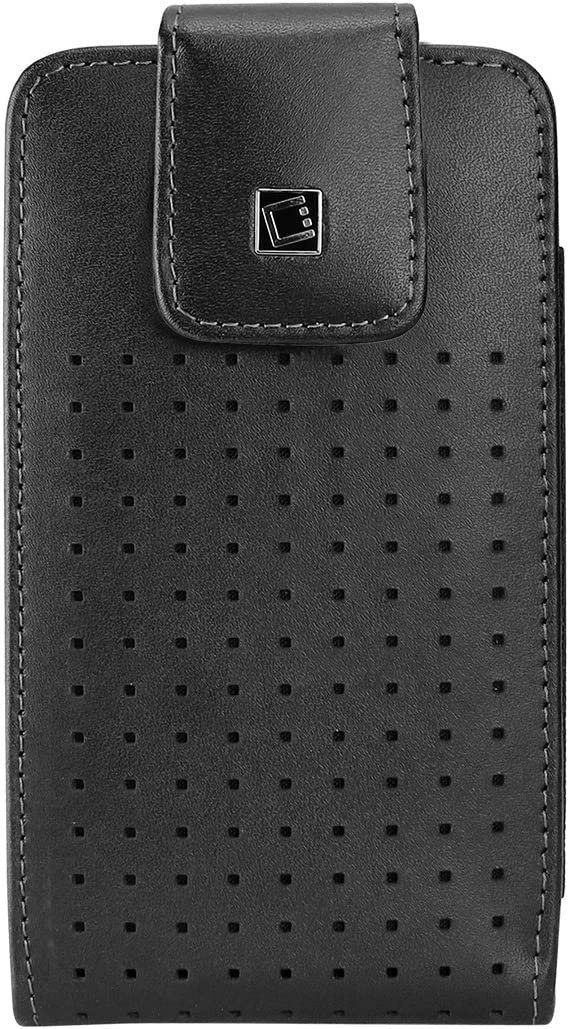 Cellet LTERP6B Teramo Leather Pouch for Apple iPhone 7, 6, 6s & Samsung Galaxy S7, S6, S5, S4 (Fits with Slim Case On)