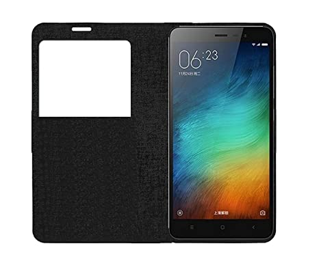 the latest e5aed 0c0ff S-Gripline Smart S-View Flip Cover for Mi Note 3 (Black)