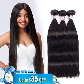 Amazon 8a brazilian straight virgin hair bundle deals 3pcs 20 8a brazilian straight virgin hair bundle deals 3pcs 20 22 24 inch remy human hair weave pmusecretfo Image collections