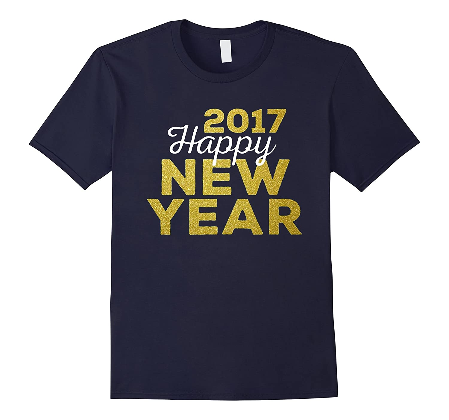2017 Happy New Year Gold Look New shirt-CL