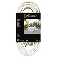 Deals on Yard Master 992382 White Patio 40-Foot 3-Pronged