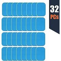 zociko EMS Ricambio Gel Pezzi, Elettrostimolatore Gel di Ricambio EMS ABS Gel Training Pad di Ricambio Elettrodi Pad di Gel per Elettrostimolatore Muscolare 32 PCS (2 PCS/Sacchetto, 16/Box)