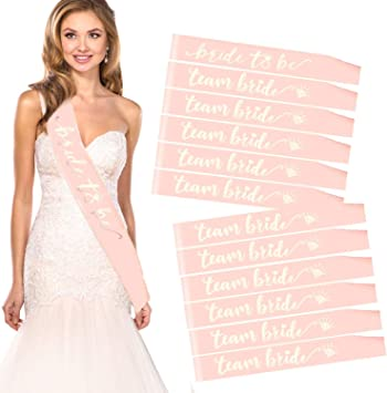 Rose Gold Hen Party Sashes Bride To Be Sash Wedding Girls Night Out Hen do Party