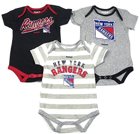Amazon.com   Outerstuff New York Rangers Baby Infant 3 Piece Creeper ... e9c7717df