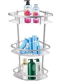 bathwa 3tier antirust aluminum corner shelf bathroom shower wall shelves kitchen storage