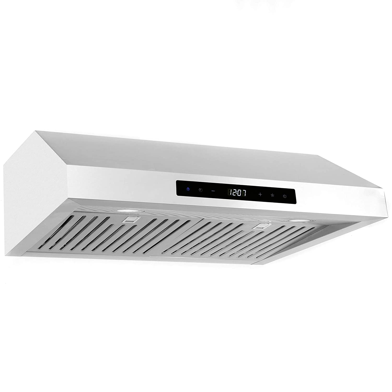 Cosmo umc30 30 in under cabinet range hood 760 cfm ductless convertible duct wireless kitchen stove vent led light 3 speed exhaust fan timer