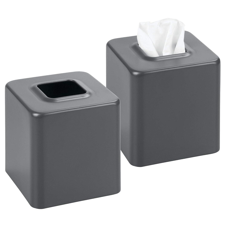 Amazoncom Mdesign Modern Square Metal Paper Facial Tissue Box Cover