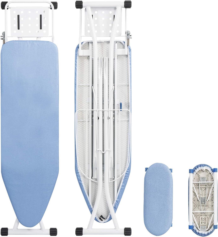 74-88 WOLTU Tabla de Planchar para Plancha con Sistema de Seguridad Altura Ajuestable 7 mm de Espesor Gris 132 x 33.5 x cm