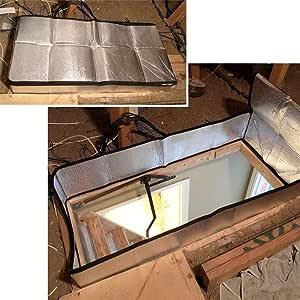 AIMERKUP Cubierta de la Escalera del ático, Tienda de Aislamiento de Las escaleras del ático Kit de aislador de Puerta de Papel de Aluminio de Doble Cara Eco Friendly: Amazon.es: Deportes y
