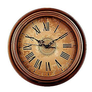 ZOUQILAI Reloj de Pared de 12 Pulgadas Vintage silencioso sin tictac números arábigos Relojes de Pared Redondos para Sala de Estar Cocina Dormitorio Oficina ...
