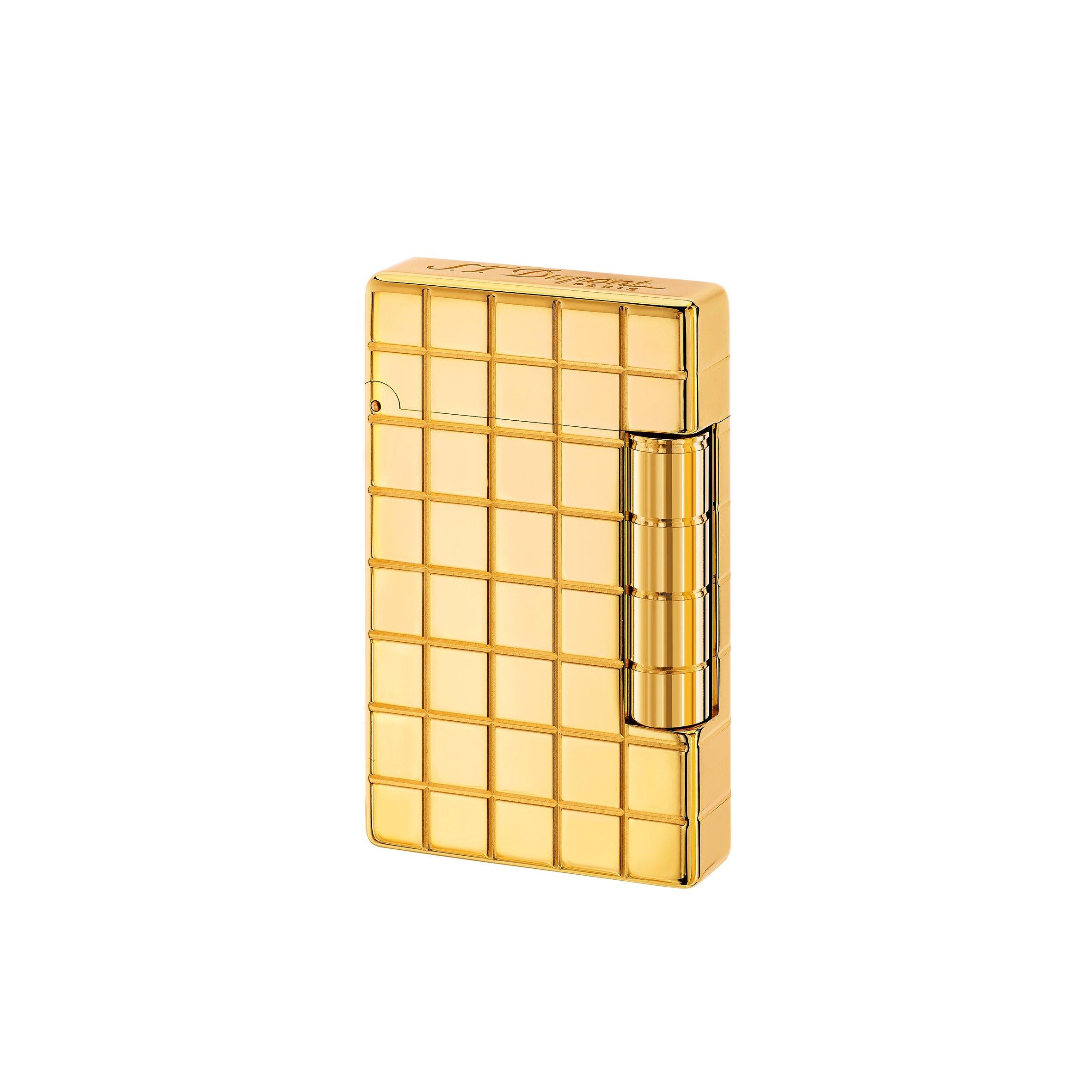 S.T. Dupont ''Initial'' Square Golden Bronze Finish Flint Lighter 2017 / 020801