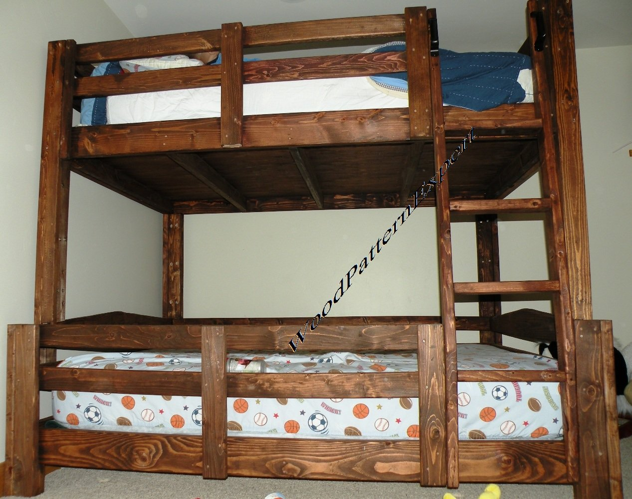 Amazon BUNK BED Paper Plans SO EASY BEGINNERS LOOK LIKE EXPERTS Build Your Own KING OVER QUEEN FULL TWIN Using This Step By DIY Patterns