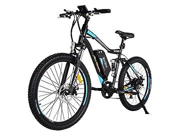 """Addmotor HITHOT Bicicleta Eléctrica de Montaña 48V 500W Potencia del Motor 27.5"""" Pulgada con Doble"""