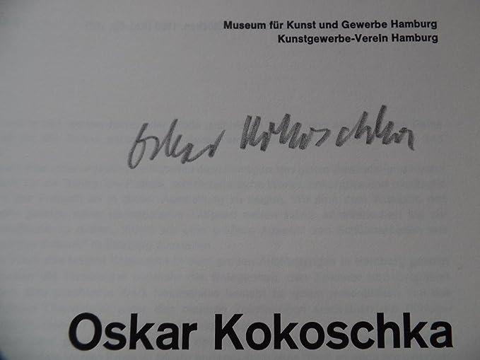 Kokoschka Oskar 18861980 Signed 1965 Exhibition