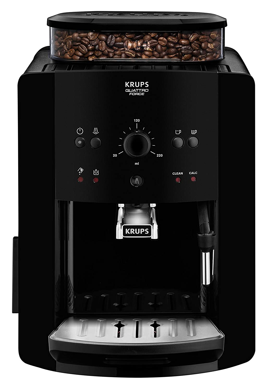 Krups Arábica Cafetera Espresso Automática, 1450 W, 1.7 litros, Acero Inoxidable, Negro