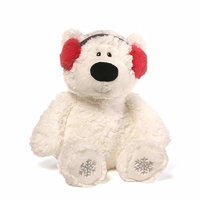 "GUND Blizzard Teddy Bear Holiday Stuffed Animal Plush, White, 12"": Toys & Games"