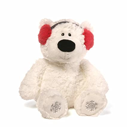 e4c1ed2c09680 Image Unavailable. Image not available for. Color  GUND Blizzard Teddy Bear  Holiday Stuffed Animal Plush