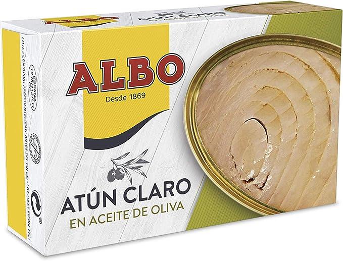 Albo - Atún claro en aceite de oliva - 112 g - [Pack de 8 ...