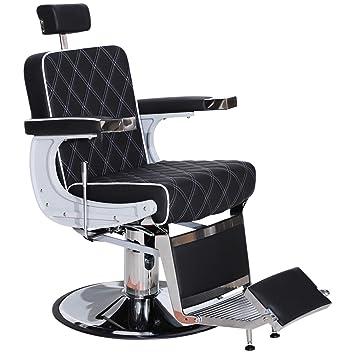 Cool Barberpub Heavy Duty Metal Vintage Barber Chair All Purpose Hydraulic Recline Salon Beauty Spa Styling Equipment 3825 Black Download Free Architecture Designs Grimeyleaguecom