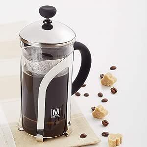 Safdie & Co. Barista Plus Pot, Percolator, Glass,Tea, Travel French Press,Filter Coffee Maker, 350ml, Transparent