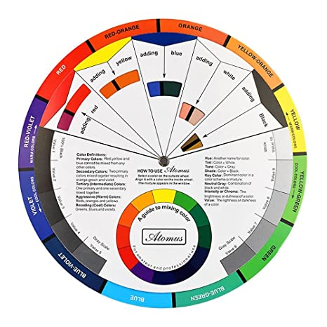 Buy Atomus Micro Tattoo Pigment Color Wheel Chart Ink Color Wheel