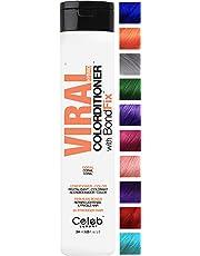 Celeb Luxury Viral Colorditioner: Color Depositing Conditioner, BondFix Bond Rebuilder, 10 Vivid and Pastel Colors, Stops Fade, Conditioner + Vivid Color, Cruelty-Free, 100% Vegan