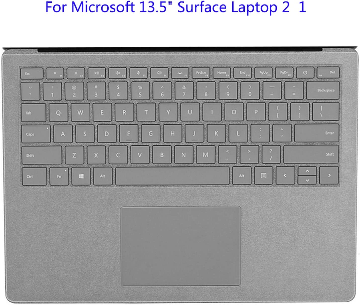 All-Equal Keyboard Cover for Microsoft Surface Laptop 2 1 Soft Keyboard Skin Film for Surface Book 2 1 New Pro 6 5 4-for Laptop 2 11