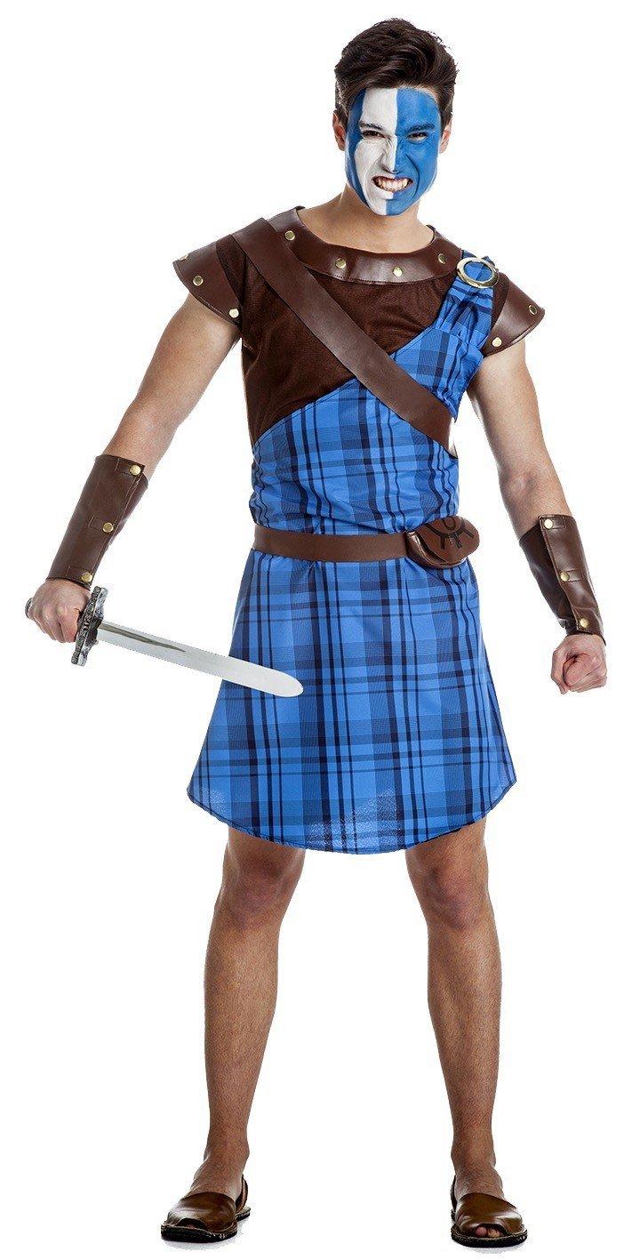 Disfraz de Guerrero Escocés Azul Talla XL: Amazon.es: Juguetes y ...