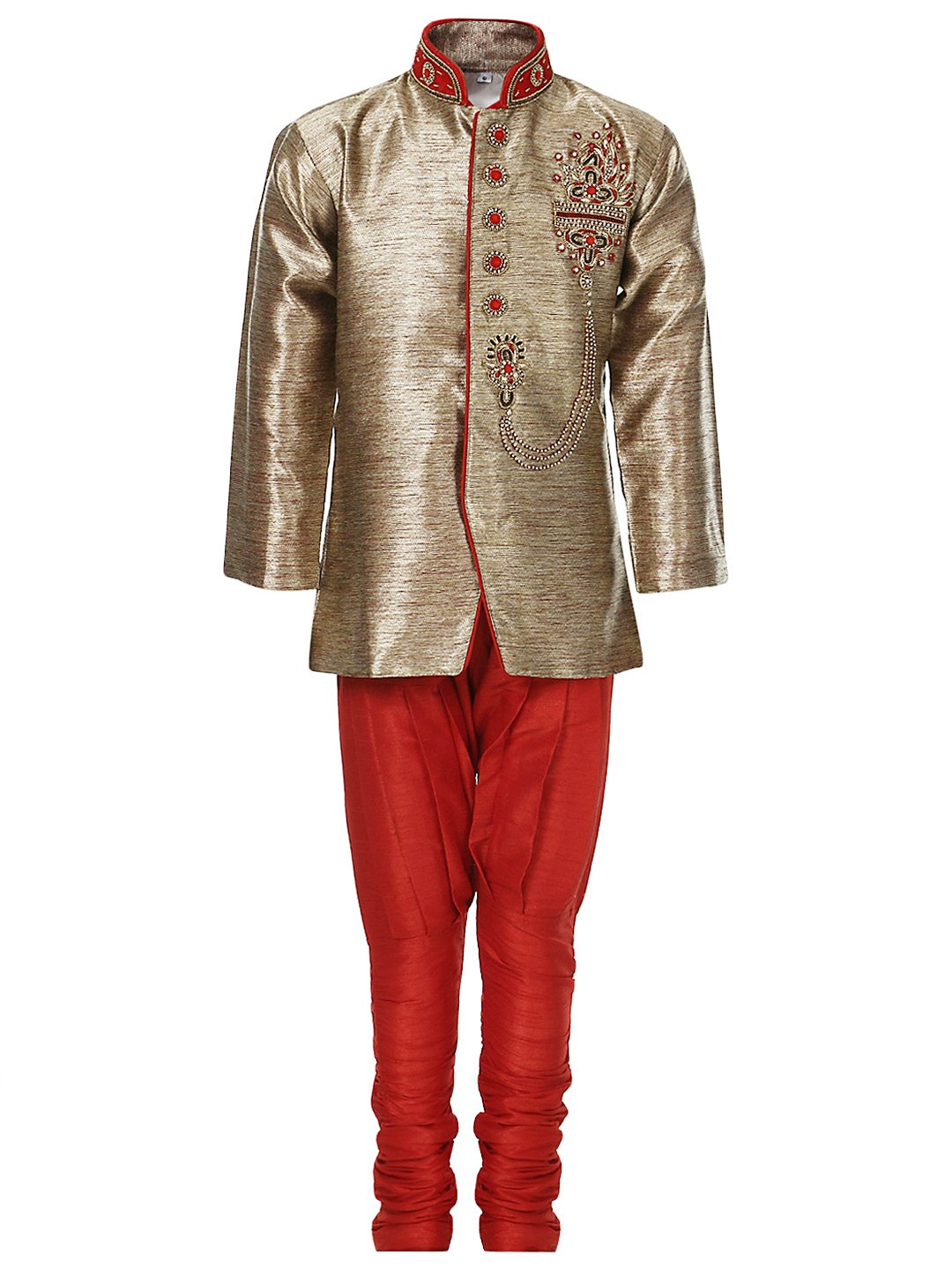 AJ DEZINES Big Boys' Sherwani and Breeches Set 647-$P