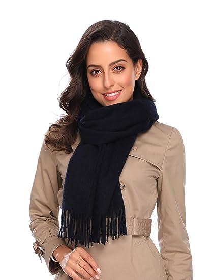 i+k Écharpe en cachemire et laine de mérinos - 100% laine Écharpe en Laine Cachemire  Hiver Pashmina Châle Pour Femmes Hommes - avec Boîte-Cadeau  Amazon.fr  ... 4ab44224e50