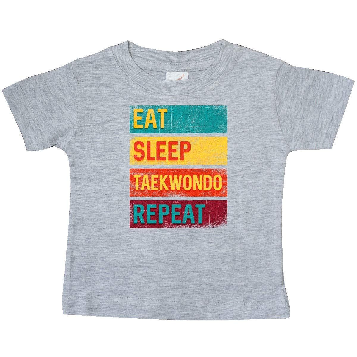 inktastic Martial Arts Eat Sleep Taekwondo Repeat Baby T-Shirt