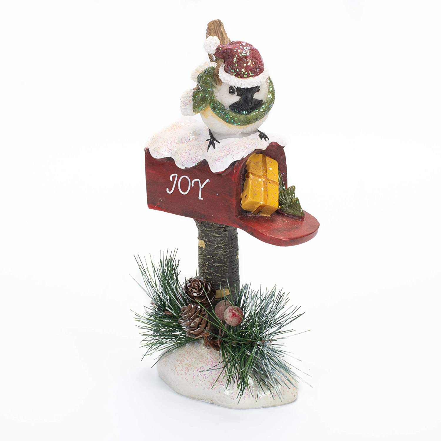 Delton Products Resin Pine Bird Mailbox 4.5 Inches x 9.3 Inches Home Decor