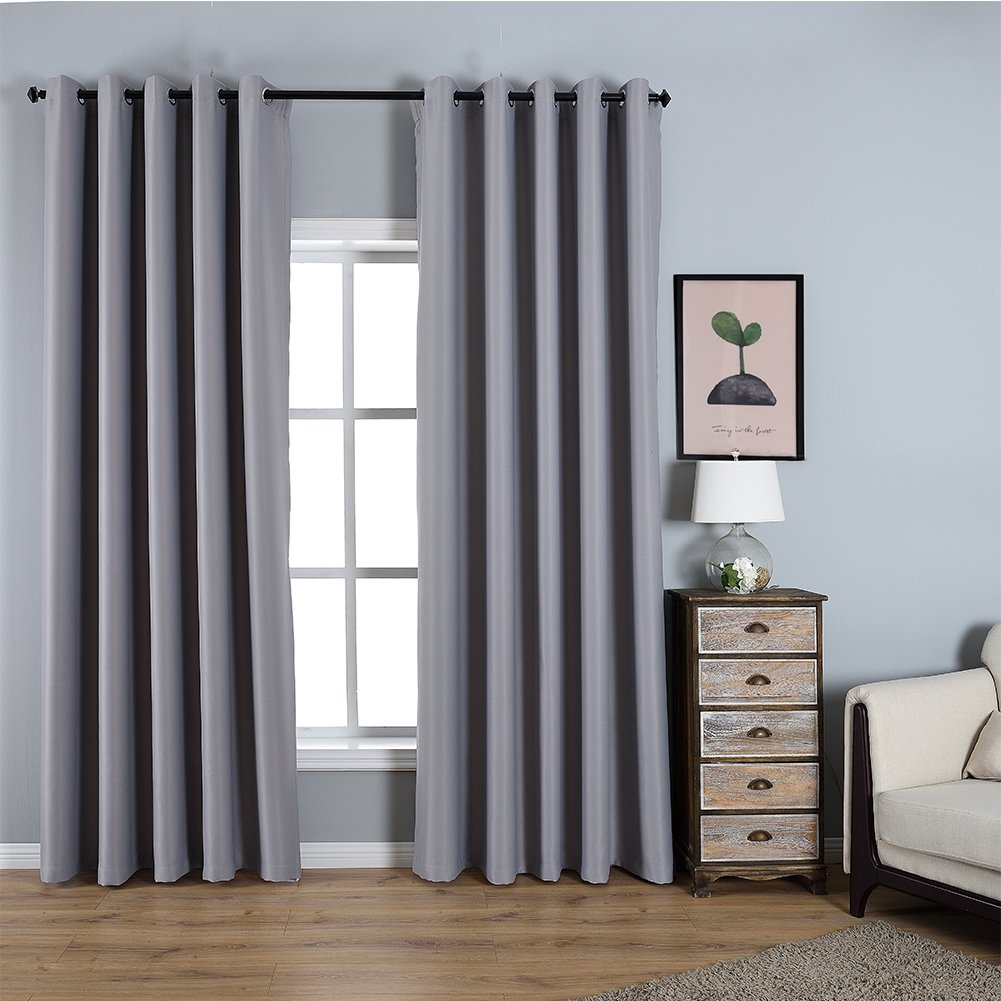 Dreaming Casa Solid Room Darkening Blackout Curtain Grey