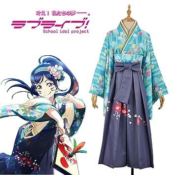 LJLis Mujeres Anime Cosplay Traje Robe Japonés Kimono Yukata ...