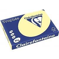 Clairefontaine Trophée - Resma de papel, 80 gr/m², 500 hojas, A3 (42 x 29.7 cm), color amarillo